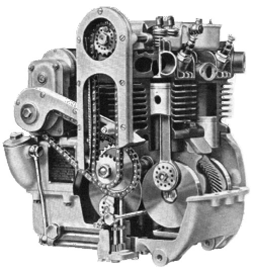 Suzuki Square Four Engine